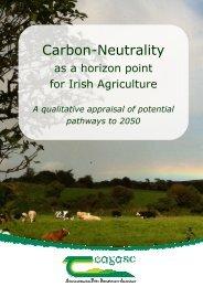 Carbon-Neutrality as a horizon point for Irish Agriculture - Teagasc