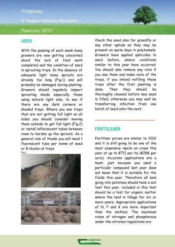 Potato Newsletter - February 2013 - Teagasc