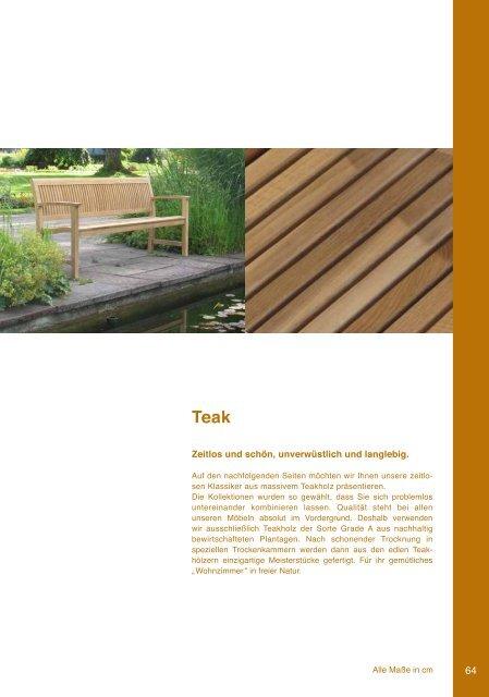 Teak-Möbel - Teak and More