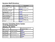Dynamo Staff Directory Name Contact Dynamo ... - TeamUnify