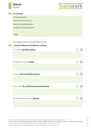 1 Website Check - Teamwork Kommunikation