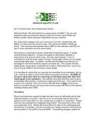 2011 Summer Swim Team Registration Packet ... - TeamUnify