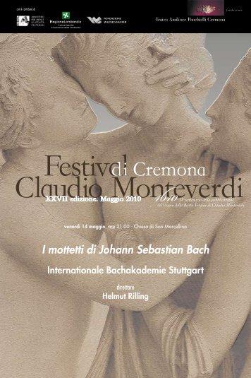 programma di sala - Teatro A. Ponchielli