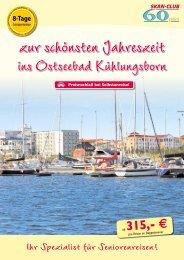 8 Tage Seniorenreise Kühlungsborn - Kurzurlaub Spezial