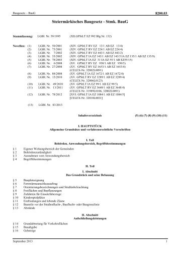 Steiermärkisches Baugesetz - Stmk. BauG - Technik Steiermark