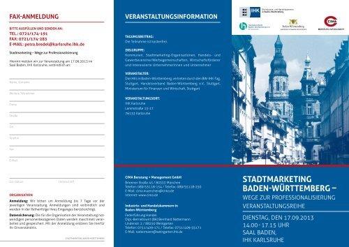 STAdTMArkeTing BAden-WürTTeMBerg – - TechnologieRegion ...