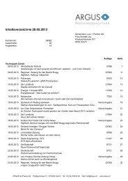 Pressespiegel Mai 2013 - TECHNOPARK® Zürich