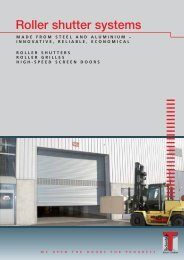 Roller shutter systems - Teckentrup