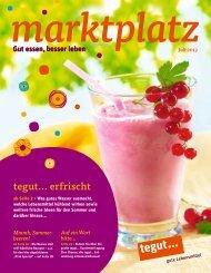 marktplatz Juli 2013 - Tegut