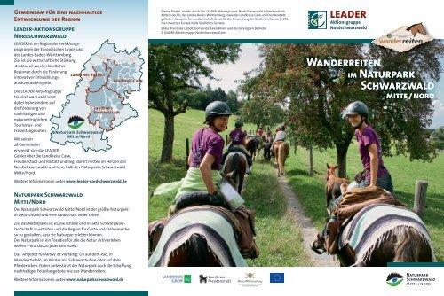 """Flyer """"Wanderreiten im Naturpark Schwarzwald Mitte/Nord"""""""