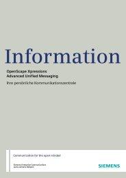 OpenScape Xpressions als vorkonfigurierte UC-Lösung