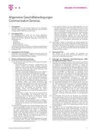 Allgemeine Geschäftsbedingungen Communication ... - Telekom