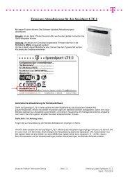 Update-Anleitung für den Speedport LTE II - Telekom