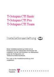 Diese Installationsanleitung richtet sich an Fachpersonal ... - Telekom