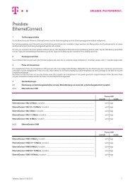 Preisliste EthernetConnect. - Telekom