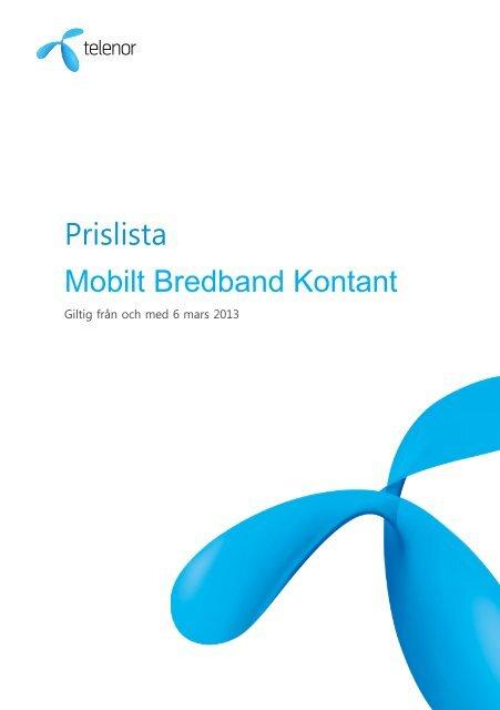 telenor mobilt bredband kontantkort