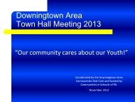 Communities That Care Town Hall Meeting 2013 - Downingtown ...