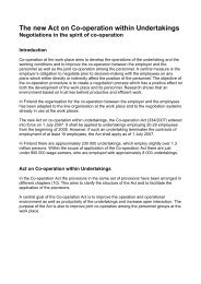 The new Act on Co-operation within Undertakings, brochure text, 2007