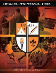 DeSales High School 2007 - 2008 Annual Report