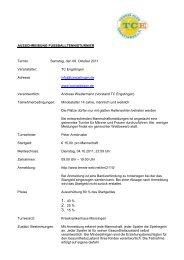 AUSSCHREIBUNG FUSSBALLTENNISTURNIER ... - Tennis-web.net