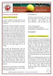 TGR‐Newsletter vom 28. Mai 2013 3. Herren vs. NTSV Strand 08 3 ...