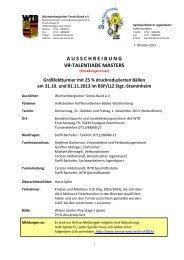 Ausschreibung Masters 2013 - Tennis-web.net