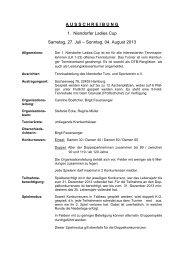 AUSSCHREIBUNG 1. Niendorfer Ladies Cup ... - Tennis-web.net