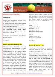 TGR-Newsletter vom 05. Februar 2013 Liebe Mitglieder, Olga weiß ...
