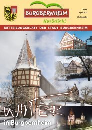 MItteIlungsBlatt der stadt BurgBernHeIM