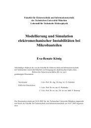 Modellierung und Simulation elektromechanischer Instabilit¨aten bei ...