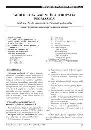 Comisia de specialitatea Reumatologie a Ministerului ... - medica.ro