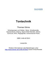 Tontechnik - Terrashop.de