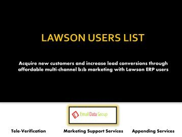 Drive sales with Verified List of Lawson Users Across the Globe