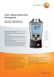 Holz-/Materialfeuchte- Messgerät - Testo AG