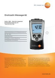 Drehzahl-Messgerät - Testo AG