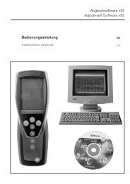 Bedienungsanleitung Abgleichsoftware x35 Instruction ... - Testo AG