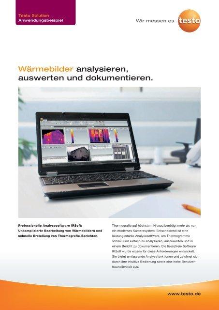 zur kostenfreien Vollversion der PC-Software IRSoft - Testo AG