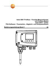 Bedienungsanleitung testo 6681 Profibus, 6610, P2A software Band 1