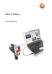 Bedienungsanleitung testo IRSoft