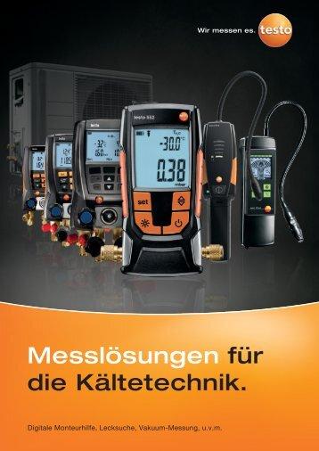 Messlösungen für die Kältetechnik. - Testo AG