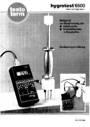 Bedienungsanleitung testo 6500 (PDF, 1,6 MB)