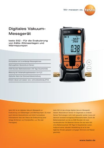 Digitales Vakuum- Messgerät