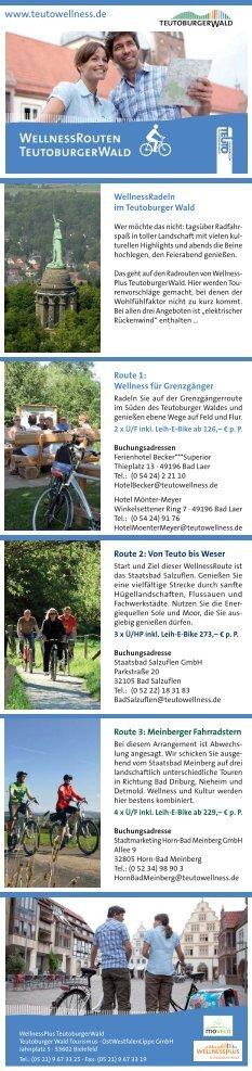 WellnessRouten - Teutoburger Wald