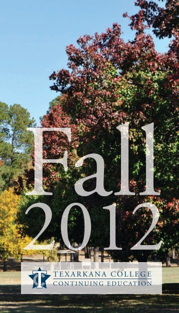 fall schedule.pdf - Texarkana College