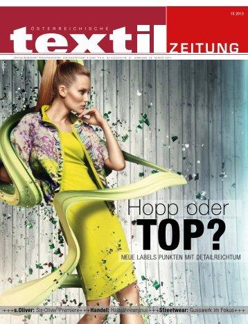 Hopp oder - Österreichische Textil Zeitung