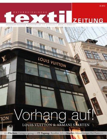 LOUIS VUITTON & ARMANI STARTEN - Österreichische Textil Zeitung