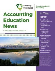 Summer 2013 - American Accounting Association