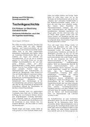 Technikgeschichte ETHZ Bulletin - ETH Technikgeschichte - ETH ...