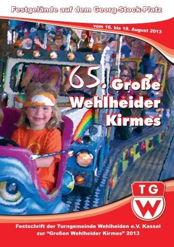 Kirmesheft_2013 - TG Wehlheiden