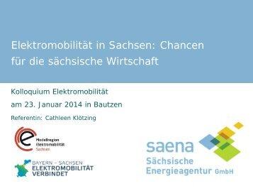 Elektromobilität in Sachsen: Chancen für die sächsische Wirtschaft